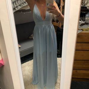 Light blue formal dress!